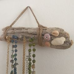 Selling this Handmade necklace holder. Made in Hawaii in my Poshmark closet! My username is: alohaalex. Rustic Jewelry, Unique Jewelry, Handmade Necklaces, Handmade Gifts, Necklace Holder, Jewelry Armoire, Cottage Chic, Jewelry Organization, Twine