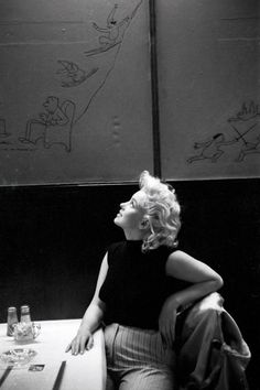 In a New York City restaurant in March 1955.