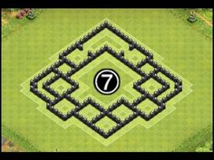 Clash of Clans Town Hall 7 (TH7) Trophy/Hybrid Base Defense (Before Air Sweeper) by PointBlank - YouTube