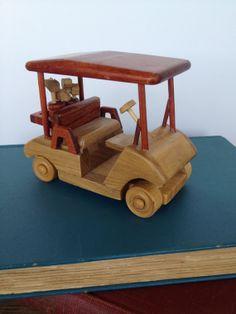 Golf Gift - Wooden Golf Cart - Vintage, Handmade