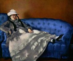 Edouard Manet: Mrs. Manet on a Blue Couch - 1880