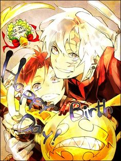 Tags: D.Gray-man, Allen Walker, Timcanpy, V Gesture, Text: Happy Birthday, rain_drops-ame