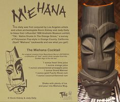 A famous drink, the Miehana...spell it backwards and see what you get! Maybe a city in Cali with a famous Tiki cocktail bar in it?!