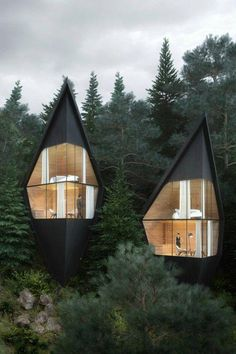 """Milan-based Peter Pichler Architecture describes the new proposed Tree House pro.Milan-based Peter Pichler Architecture describes the new proposed Tree House project in the Italian Dolomites as a 'slow down' form of tourism, where """"nature and Architecture Design, Architectural Design House Plans, Architecture Portfolio, Residential Architecture, Amazing Architecture, Contemporary Architecture, Contemporary Houses, Natural Architecture, Architecture Interiors"""