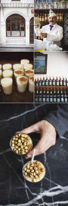 Vefa Bozacisi specializes in boza, a thick, slightly sour drink (popular during the Ottoman Empire) made from fermented millet seed. With a dash of cinnamon and a handful of roasted chickpeas on top, it's an odd drink you consume with a spoon. Author: à la mode*
