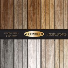 Wood digital paper WOOD NATURAL distressed wood by DigitalStories, €2.80