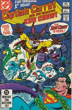 Captain Carrot and His Amazing Zoo Crew Vol. 1 No. 1 - 1982 - Superman Appearance by TheSamAntics