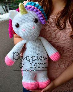Modèle pour crocheter-Mimi the Unicorn facile-40 par BunniesandYarn