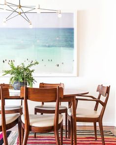 Who needs a holiday? A large framed artwork like this one might just trick you into thinking you have a view of the #beach from your own #diningtable...