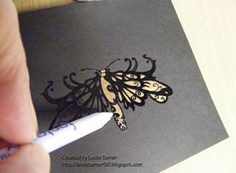 Card making technique using bleach and rubber stamps