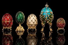 Famous Easter-eggs by Faberge in St Petersburg, Russia