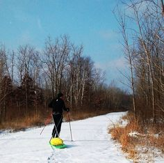 Snow hiking! - Building my first ski pulk for winter adventure!!