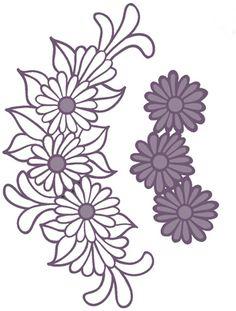 Sue Wilson Designs Daisy Cluster
