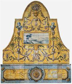 Glazed tiles, c.1805 [Museu Nacional do Azulejo/Azulejo's National Museum] Portugal