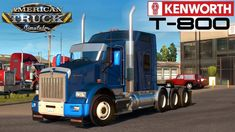 Kenworth T800 + Interior v1.2.38 by GTM Team (1.38.x) for ATS Dump Trucks, New Trucks, Mixer Truck, American Truck Simulator, Uv Mapping, Concrete Mixers, Kenworth Trucks, Latest Games, Social Media Pages