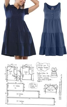 Prodigious Sewing Make Your Own Clothes Ideas Dress Sewing Patterns, Sewing Patterns Free, Clothing Patterns, Fashion Sewing, Diy Fashion, Fashion Outfits, Sewing Clothes, Diy Clothes, Simple Dresses