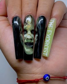 Long Nails, My Nails, The Exorcist, Colorful Nail Designs, Halloween Nail Art, Ask Me, Nail Colors, Acrylic Nails, Rings For Men