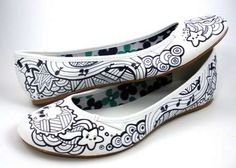 Sharpied shoes