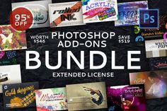 Photoshop Add-Ons Bundle by Creative Stuff on Creative Market