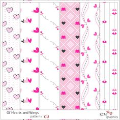 "Free ""Of Hearts and Wings"" CU Patterns"