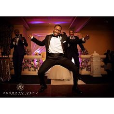 """""""That moment when the best man unleashes his special moves. Tag a friend who you'll choose to represent you in a dance off! #wedding #weddingday #moment #groom #bestman #danceoff #adebayoderu"""" Photo taken by @adebayoderu on Instagram, pinned via the InstaPin iOS App! http://www.instapinapp.com (07/20/2015)"""