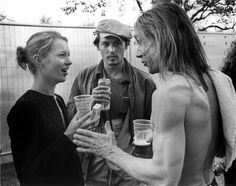 Kate Moss, Johnny Depp & Iggy Pop,1992...Classic Shot...