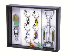 Picnic Gift 5050-FF Wine Bling Set - Flip Flop by Picnic Gift. $18.32. Color: Flip Flop.. Design is stylish and innovative. Satisfaction Ensured.. Great Gift Idea.. Manufactured to the Highest Quality Available.. This set offers everything needed for neat, easy opening, and enjoying your favorite bottle: Corkscrew, bottle stopper and 6 wine charms. Color: Flip Flop.. Save 26% Off! Wine Charms, Bottle Stoppers, Fine Wine, Home Kitchens, Your Favorite, Picnic, Great Gifts, Bling, Charmed