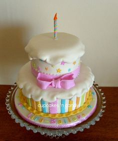 Cute First Birthday Cake;