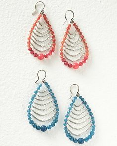 Chan Luu Oval Beaded Earrings