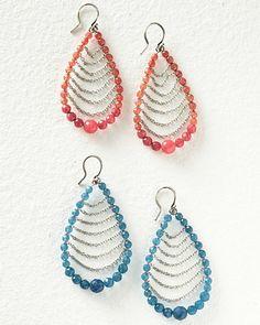 Chan Luu Oval Beaded Earrings