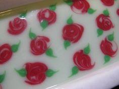Retro Roses cold process soap design