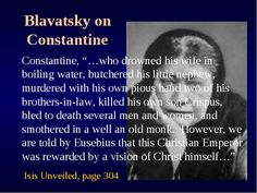 "The Emperor Constantine seems to have been a wicked man who forced his view of the Platonic trinity onto others at the Council of Nicea, centuries after Jesus died. The New Catholic Encyclopedia states: ""Among the Apostolic Fathers, there had been nothing even remotely approaching such a mentality or perspective.""—(1967), Vol. XIV, p. 299."