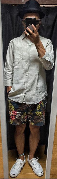 2015/07/31のコーデ hat#UNIQLO shirt#GLOBALWORK inner#GLOBALWORK shorts#ABAHOUSE shoes#convers sunglasses#GLOBALWORK #Style #fashion #tomorrowoutfit #GLOBALWORK #UNIQLO #ABAHOUSE #convers