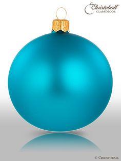 Pure Colour Weihnachtskugel Türkis