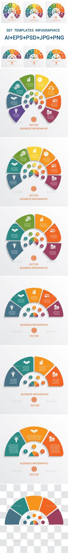 Data Elements For Template #infographics 3,4,5,6,7,8, positions. - #Infographics Download here: https://graphicriver.net/item/data-elements-for-template-infographics-345678-positions/19625589?ref=alena994