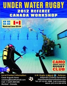 3rd North American Underwater Rugby Tournament - Montreal, QC Canada Underwater Rugby Referee Workshop Underwater Rugby, Montreal Qc, Referee, Workshop, Canada, Swimming, Goals, Baseball Cards, American