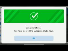 Event (UTC) About this event : Participate in the european clubs tour and train your player! Collect enough tour points (TP) during. Pes Konami, Congratulations, Tours, Club, Check