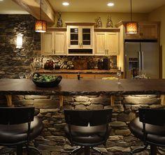Gorgeous Basement Kitchen & Bar Area