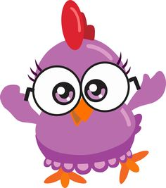 galinha roxa mini