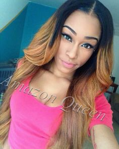Stock!!Brazilian Full Lace wigs&lace front wigs for african americans 100% human hair free part ombre lace wig with baby hair $170.00 - 380.00