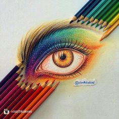 Outstanding work from @visothkakvei 'Another post of colored pencil eye…