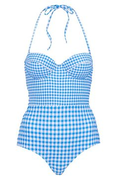 Sweet gingham one-piece swimsuit