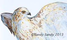 *SANDY SANDY ART*: Hawk Totem - $85.00 -   Follow this link: http://www.sandysandyart.com/2013/02/hawk-totem.html and see step-by-step photos of this painting.  - Original Fine Art for Sale - © Sandy Sandy