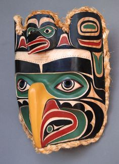 Raven Eagle Mask  Randy Stiglitz, Coast Salish Nation. Nice fellow is Randy, talented artist.
