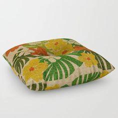 Limahuli Garden Hawaiian Floral Design Floor Pillow by driveindustries Cute Gifts, Floor Pillows, Hawaiian, Floral Design, Coin Purse, Garden, Artwork, Beautiful Gifts, Garten