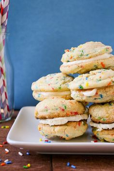 Funfetti Cookie Sandwiches by daintychef, via Flickr