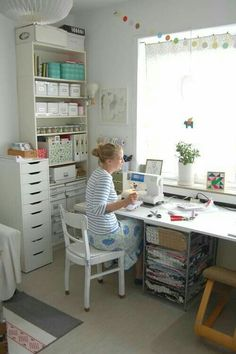 Compact sewing space