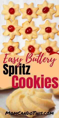 Buttery Spritz Cookies Recipe from Germany! The best easy recipe for buttery German Christmas cookies! This is my family's favorite but you can easily German Christmas Cookies, German Cookies, Easy Christmas Cookie Recipes, Yummy Cookies, Holiday Cookies, Christmas Baking, Valentine Cookies, Easter Cookies, Birthday Cookies