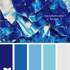 Brushstroke blue