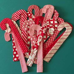Christmas in July ~ Candy Canes free pattern« modafabrics